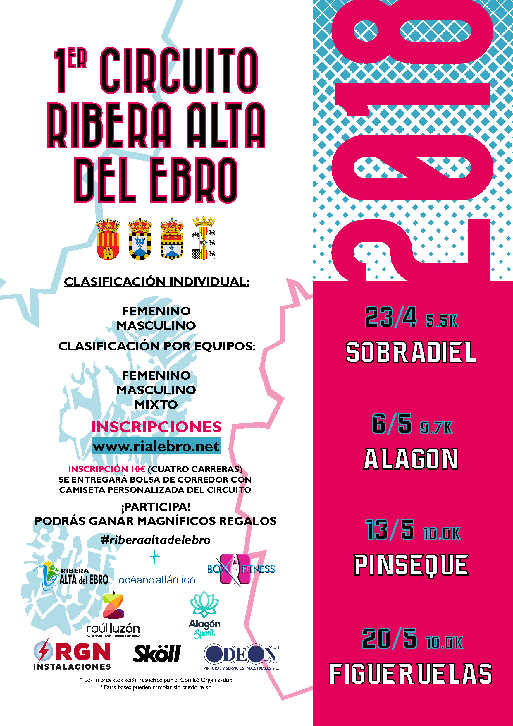I CIRCUITO COMARCAL DE CARRERAS RIBERA ALTA DEL EBRO.