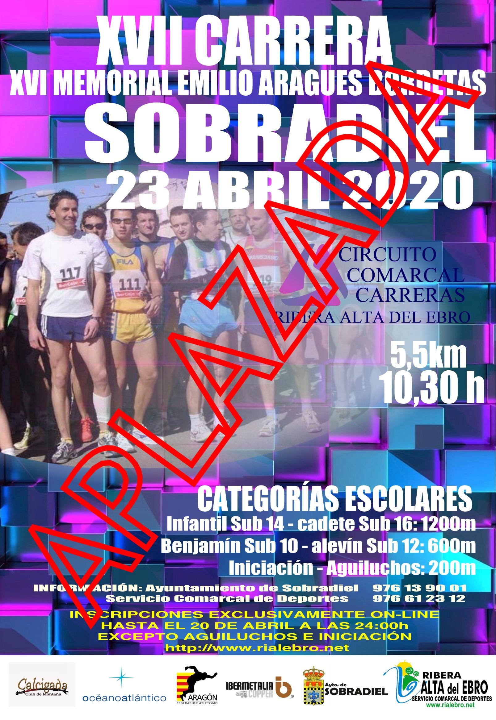 CARRERA SOBRADIEL 2020 APLAZADA