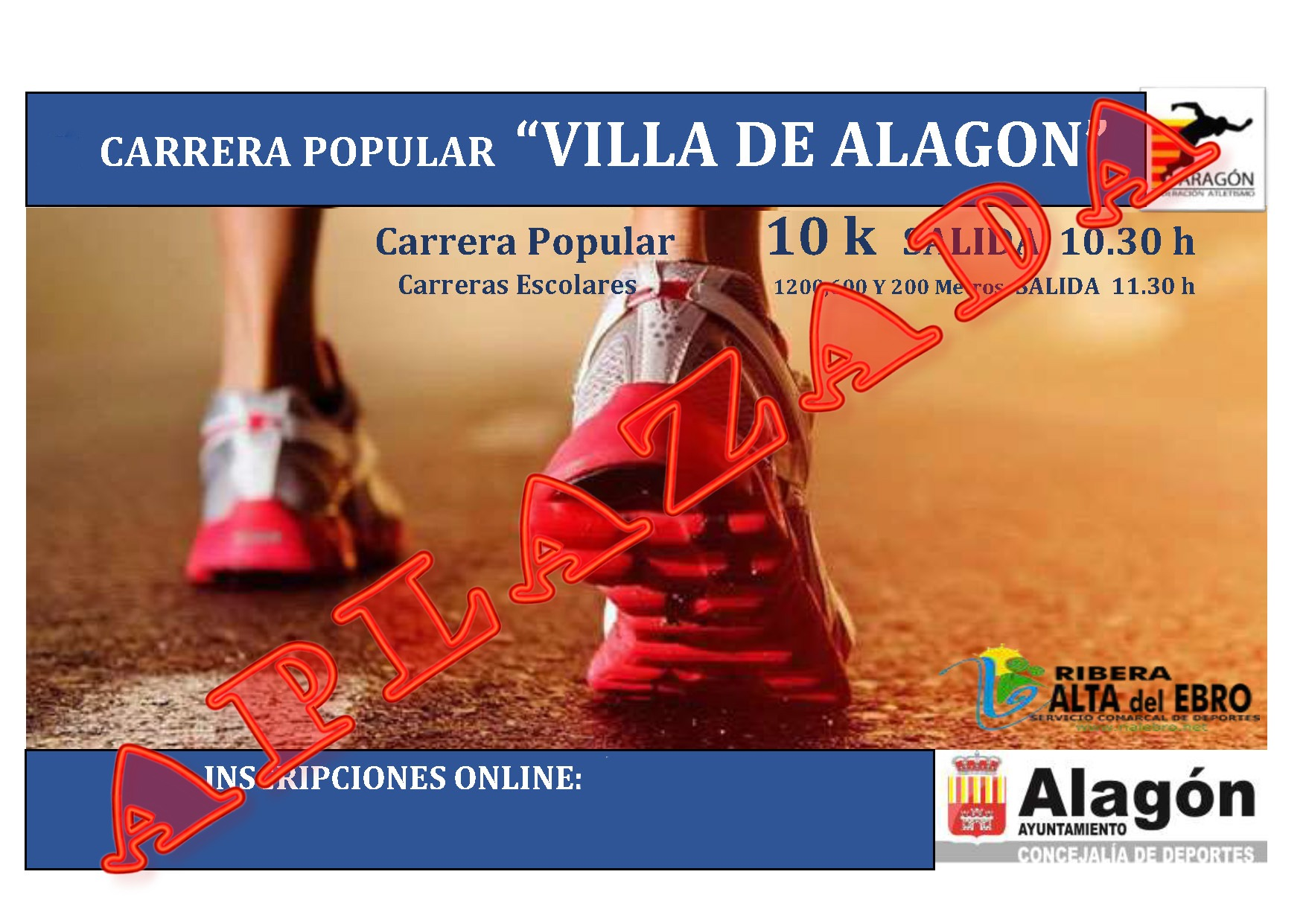 CARTEL 2020 carrera alagon